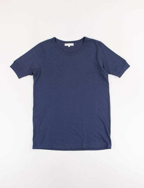 Ink Blue 1960s Organic Army Tee