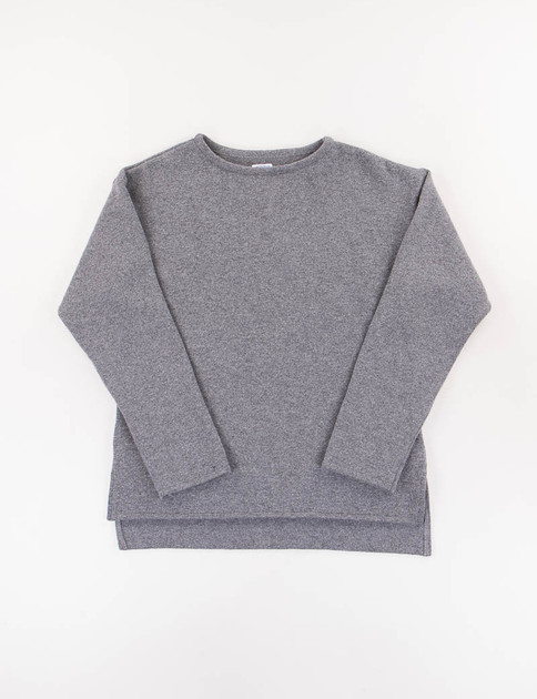 Charcoal Mariniere Lambswool Knit Sweater