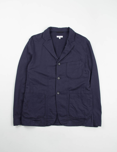 Dark Navy French Terry Knit Jacket
