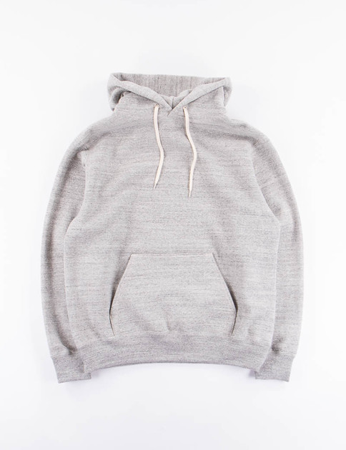 Grey Loop Wheel Pullover Hoody