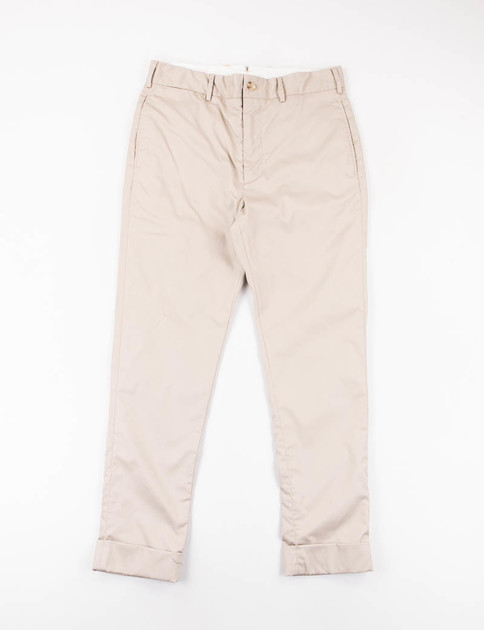 Khaki High Count Twill Cinch Pant