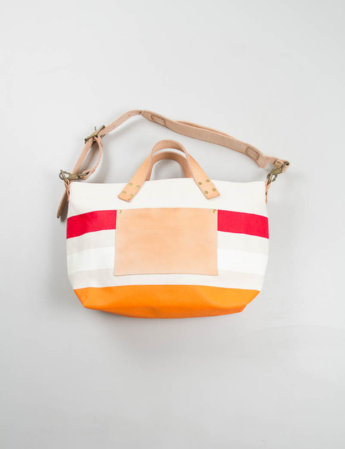 Red/White/Orange Engineer Shoulder Bag