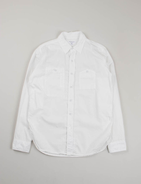 White Pima Poplin Work Shirt