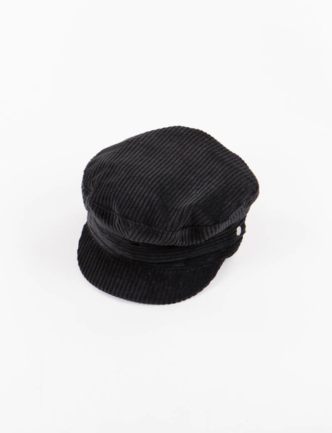 Black 9W Corduroy Greek Cap