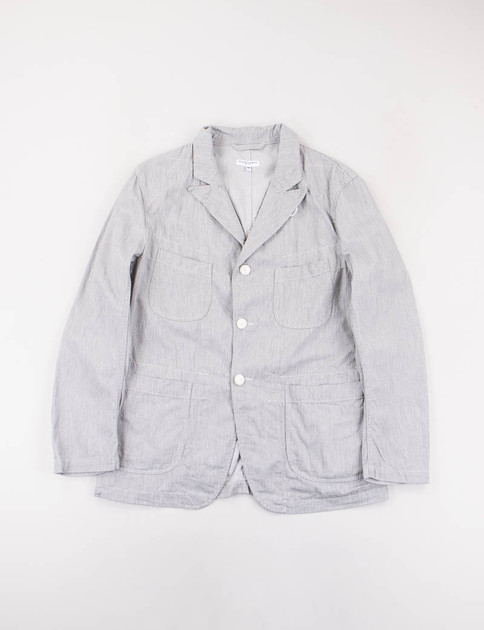 Heather Grey Cotton Twill Bedford Jacket