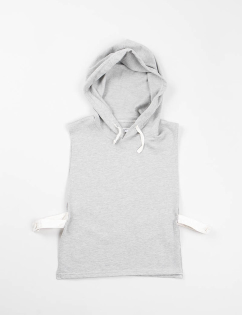Heather Grey French Terry Hooded Interliner