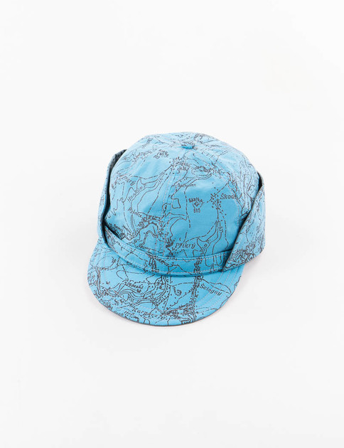 Blue Reflect Printed Cap