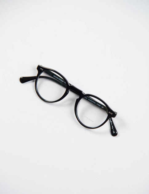 Black Gregory Peck Optical Frame