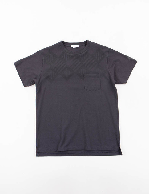 Navy Stripe Diamond Printed T–Shirt