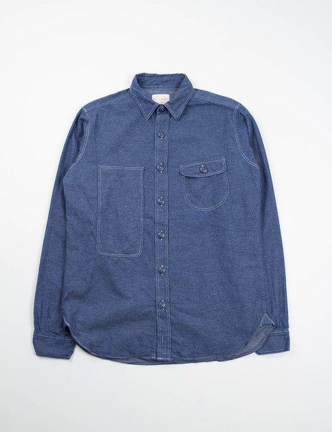 Indigo Lightweight Denim Map Shirt