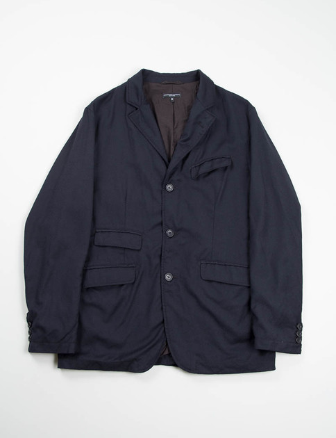 Dark Navy Worsted Wool Flannel Andover Jacket