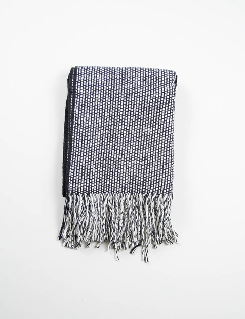 Black/Natural White Monochrome II Tweed Emphasize Scarf