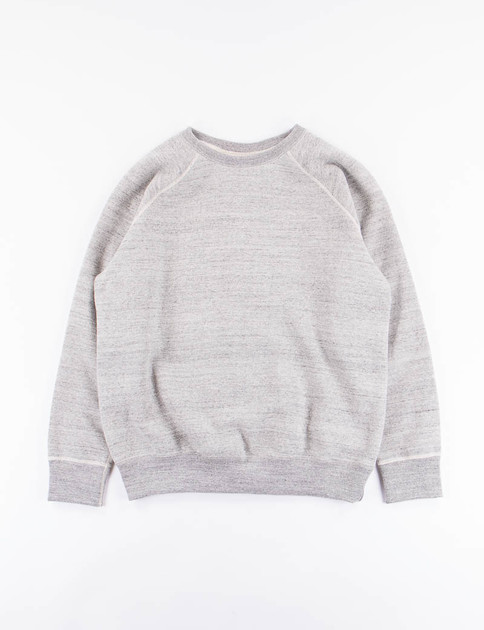Grey Loop Wheel Crewneck Sweatshirt