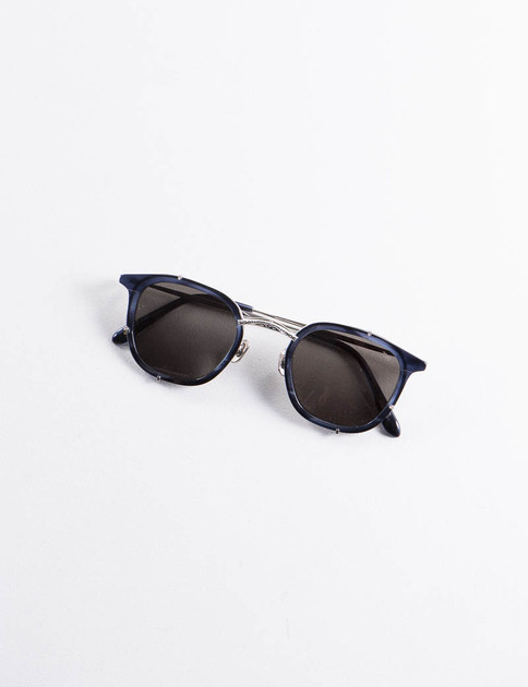 Indigo/Silver Model 739 Titanium Sunglasses