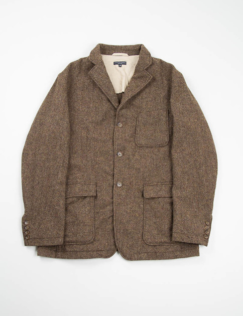 Brown 13oz Wool Flannel Baker Jacket