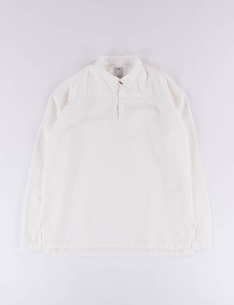 VISVIM White Chambray Kerchief Tunic Shirt