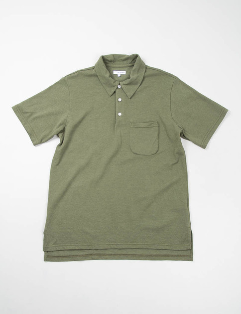Olive Pique Knit B–Polo