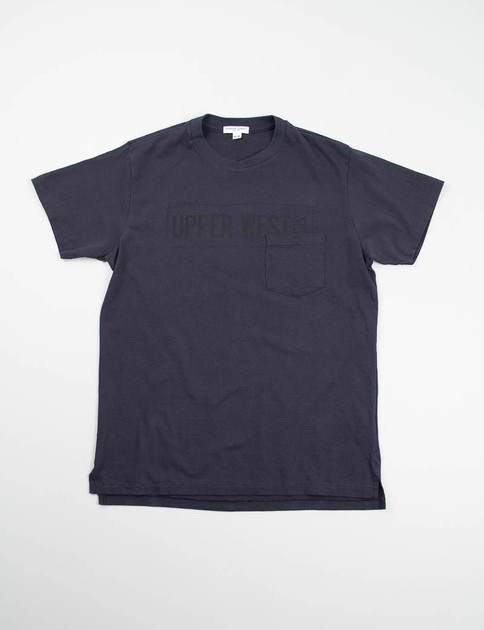 Navy Upper West Side Printed Cross Crew Tee