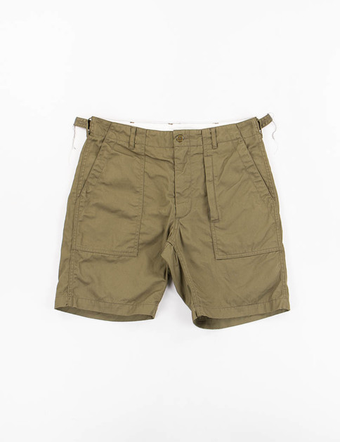 Olive 7oz Cotton Twill Fatigue Short