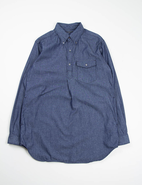 Indigo 6oz Denim Popover Long BD Shirt