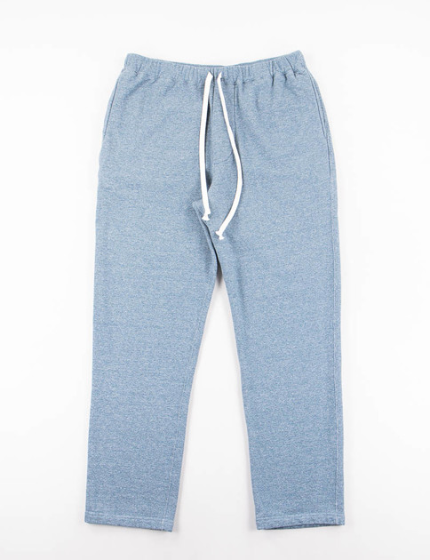 Blue Heathered Jersey Slim Sweat Pant