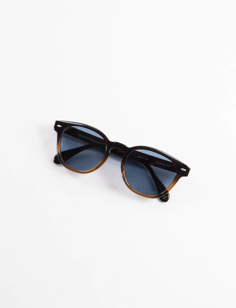 Porter x Oliver Peoples Brown Gradient Bioplastic Sheldrake Sunglasses