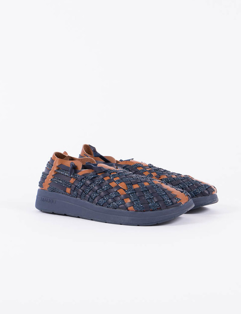 Missoni Navy/Whiskey Latigo Sandal