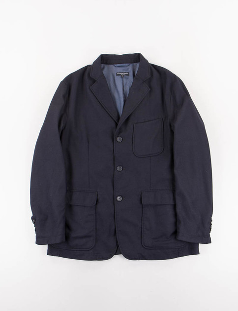 Dark Navy Worsted Heavy Wool Baker Jacket