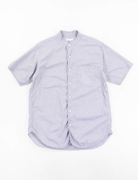 Grey Cotton Small Houndstooth Copley Shirt