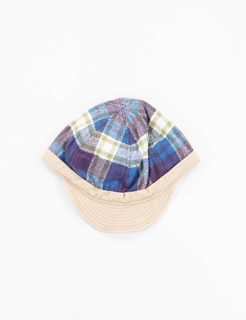 Navy Check Sports Cap