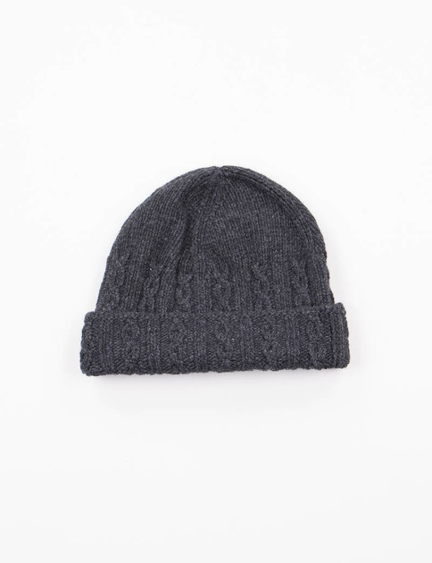 Dark Grey Cable Hat