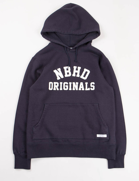 Navy PE C–Hooded Sweatshirt