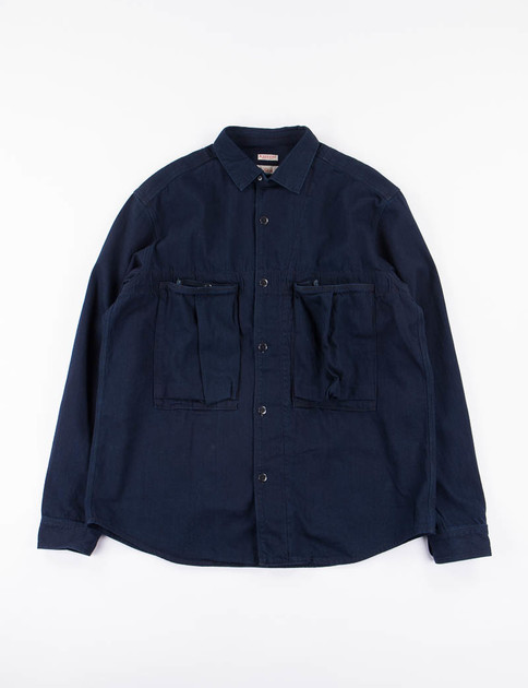 Indigo 8oz Denim Anorak Shirt