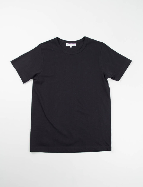 Deep Black 1950s Organic Crew Neck Tee
