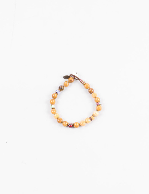 Mikia X United Arrows Ivory Jade/Yellow Jade Bracelet