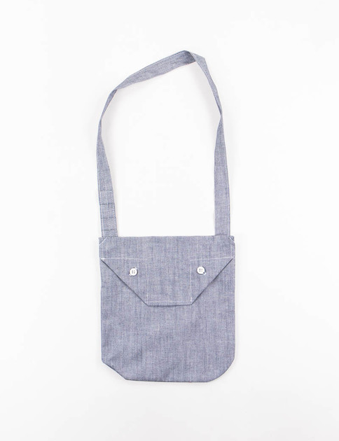 Blue Cone Chambray Shoulder Pouch