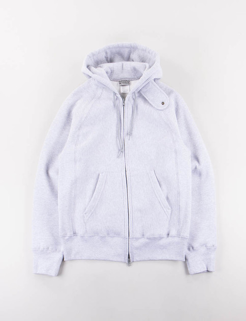 Heather Grey Raglan Zip Hoody