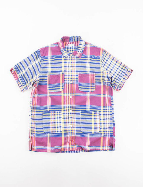 Red/Blue/Yellow Big Plaid Camp Shirt