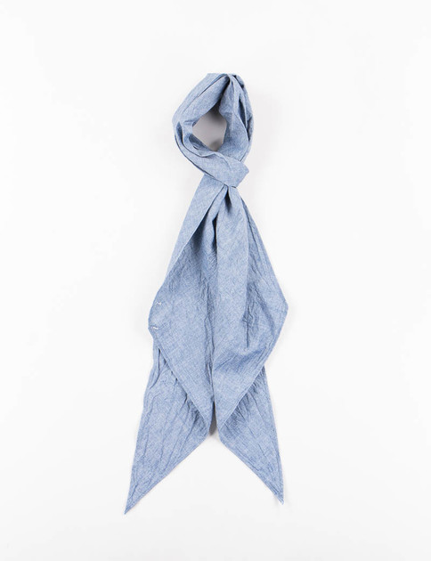 Blue 5oz Cotton Chambray Bias Cut Scarf