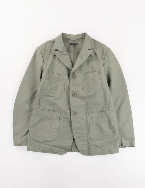 Olive Cotton Double Cloth Bedford Jacket