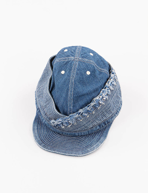 Processed Indigo Denim Burst Piping Monkey Phillip Cap