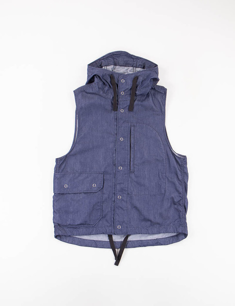 Indigo Nyco Denim Field Vest