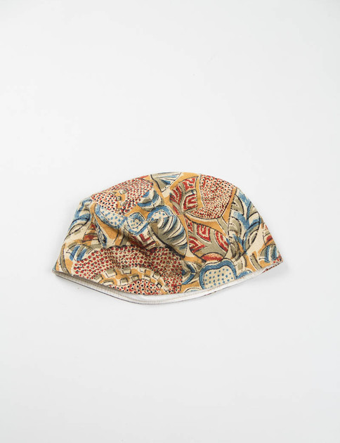 Brown Floral Print Canvas Adrian Hat