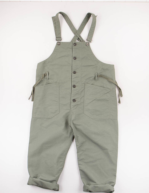 Olive Cotton Double Cloth Overalls