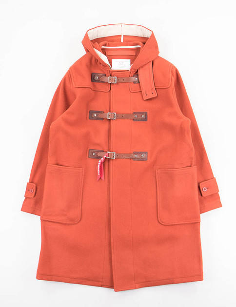 Orange Belted Duffle Coat with Vest