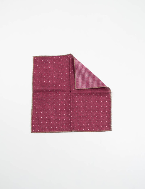 Bordeaux Polka Dot Double Sided Pocket Square