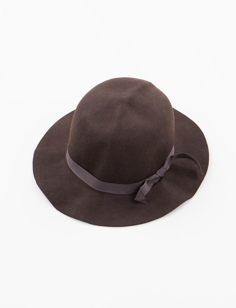 Brown Felt Crushable Leisure Hat