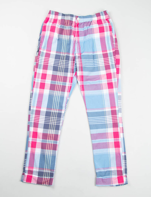 Red/Light Blue Big Plaid Charles Pant