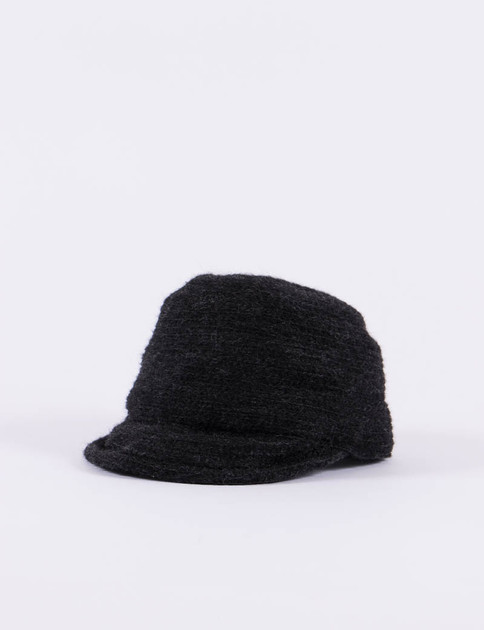 Black Mohair Braid Cap