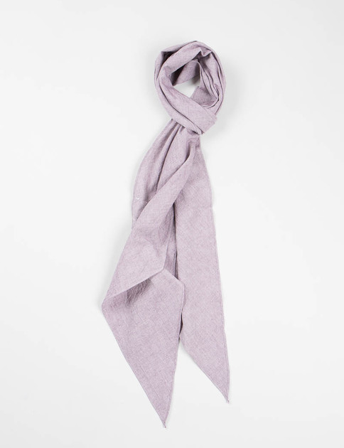 Purple Cotton/Linen Chambray Bias Cut Scarf